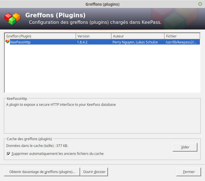 greffon sous linux